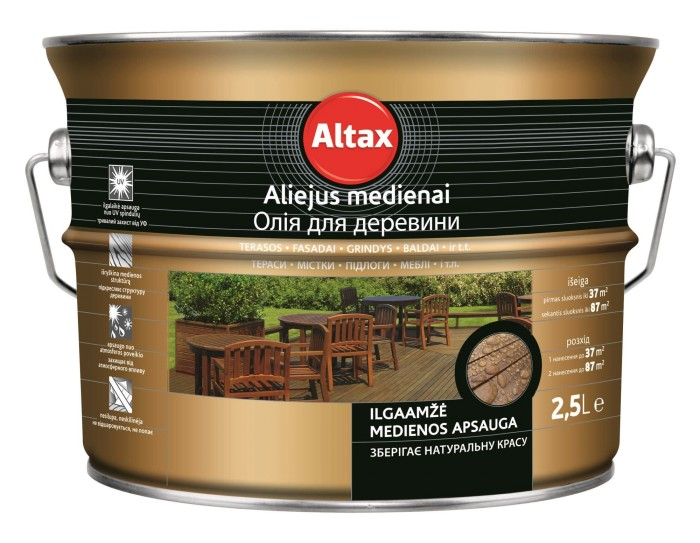 Aliejus medienai ALTAX, kaštono sp., 750 ml