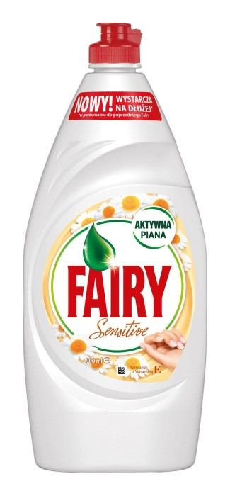 Indų ploviklis FAIRY Sensitive Chamomile & Vitamine, 900 ml