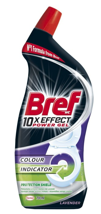 WC valiklis BREF 10 x Effect Total Protection Lavender, 700 ml